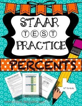 6th Grade Math STAAR Practice Set 4: Percents   Personal ...