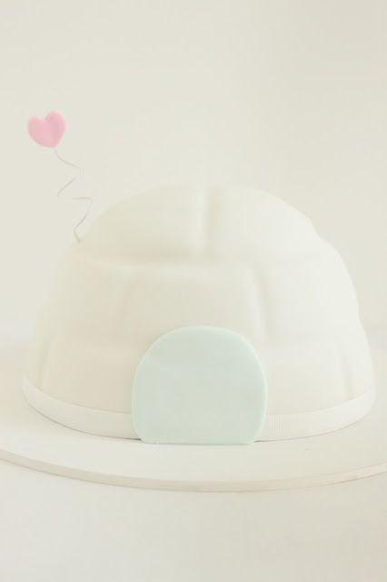 Igloo Cake by hello naomi. This is too cute!