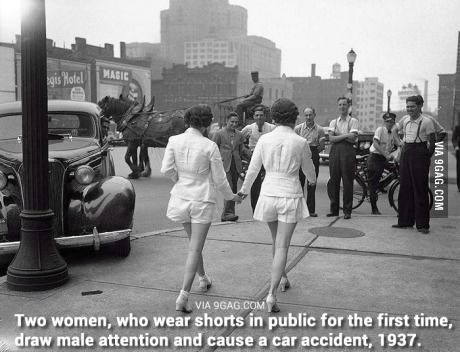 Two Women Who Wear Shorts In Public For The First Time With