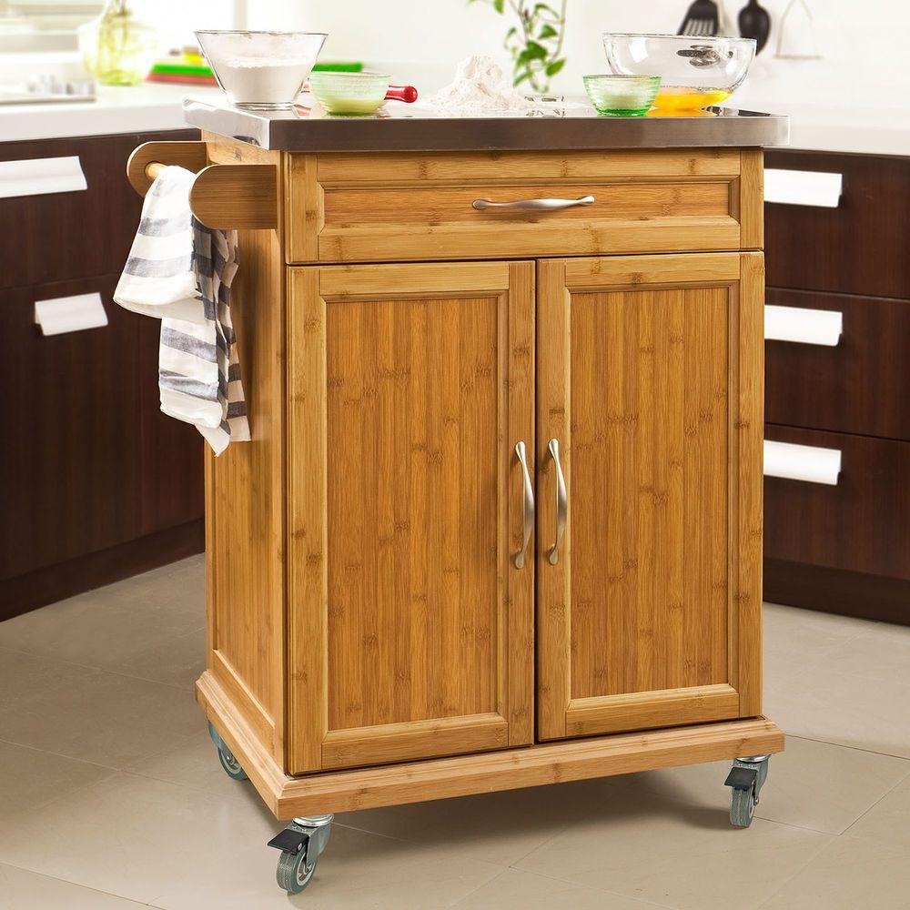 So Kitchen Storage Cabinet Island Trolley Rubber Wheels Fkw13 N