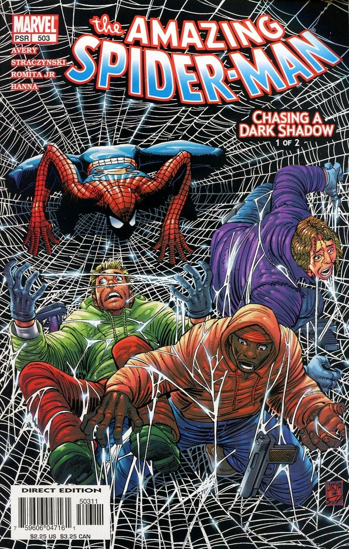 the Amazing Spider-Man, Vol. 1 # 503, by John Romita, Jr., Scott Hanna, and Matt Milla.