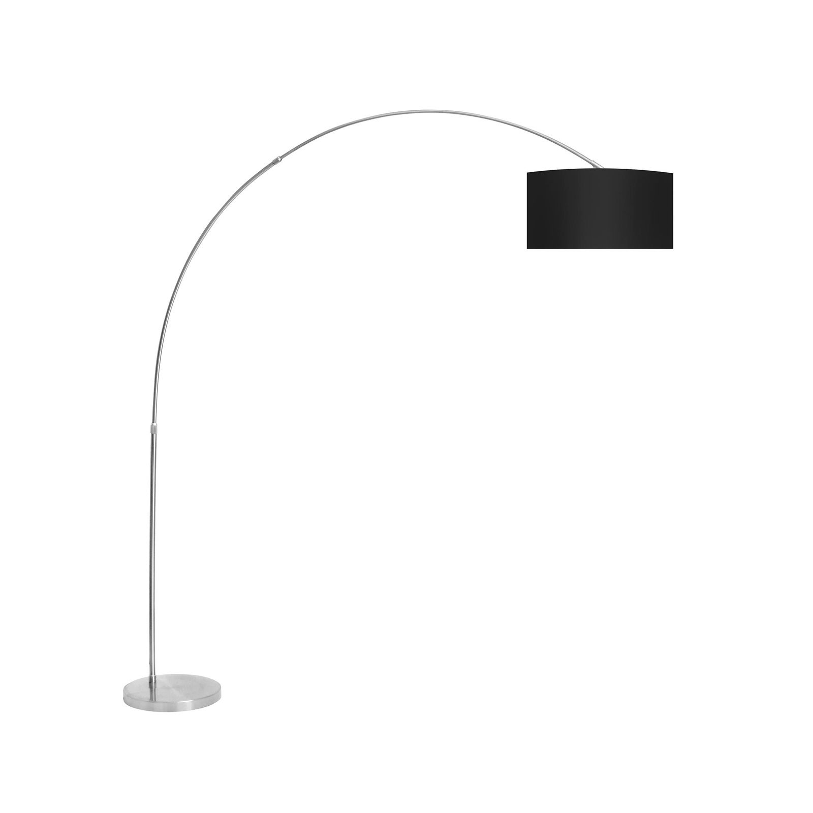 This ultra-modern floor lamp has a graceful arch with a small ...