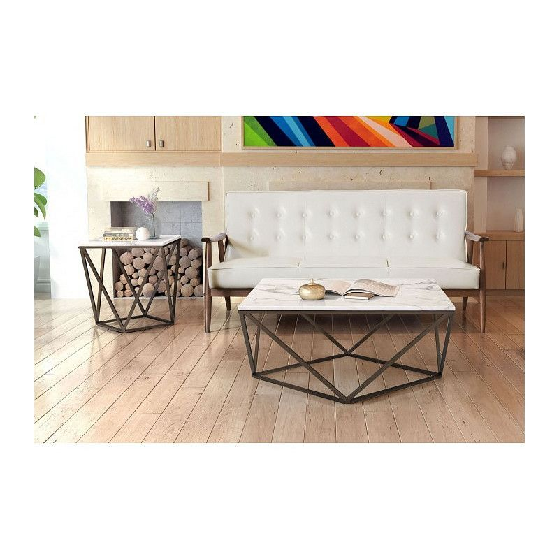Zuo Tintern Coffee Table Faux Marble Coffee Table Table