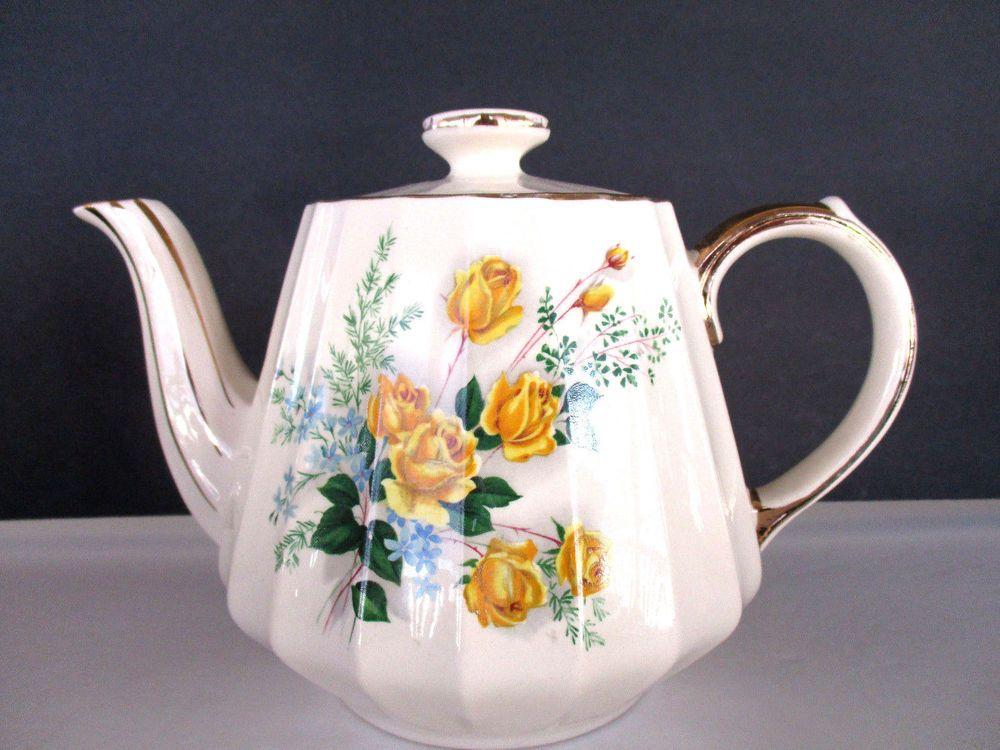 Flower Teapot Floral Teapot English Teapot Shop Building Ceramic England