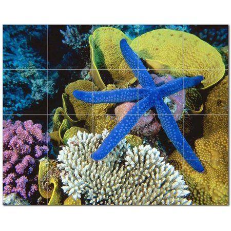 Sealife Photo Ceramic Tile Mural Kitchen Backsplash Bathroom Shower, 405797-M54