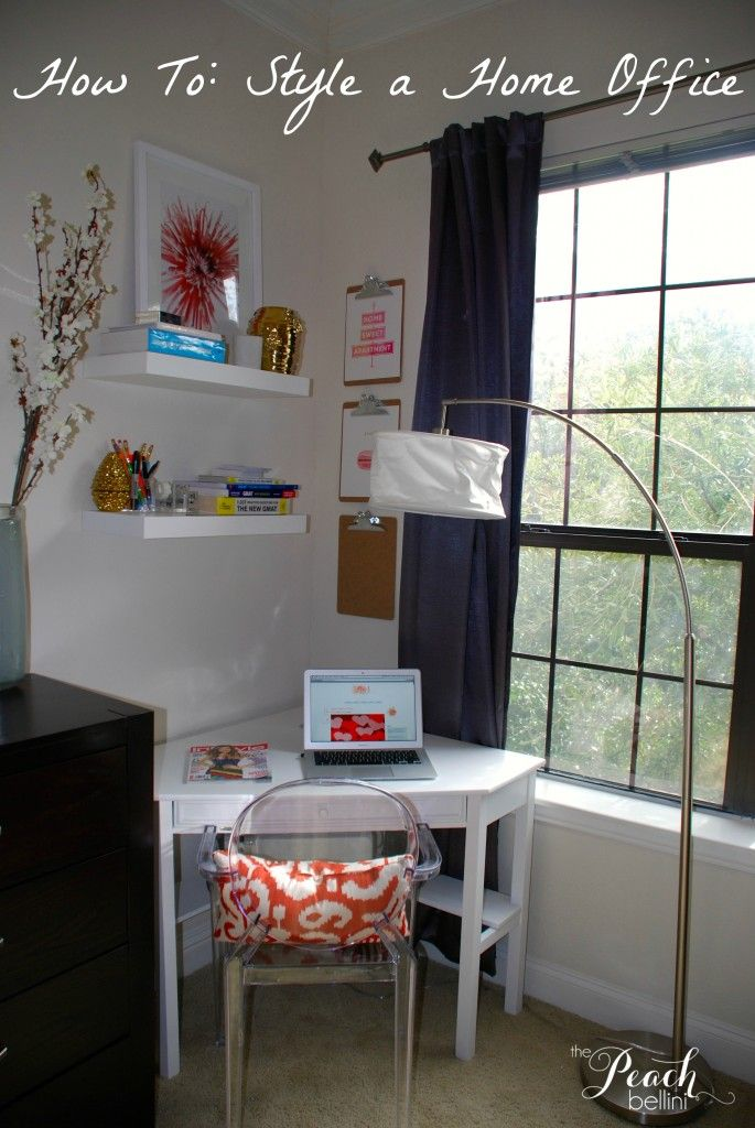 How To Style A Corner Office The Peach Bellini Target