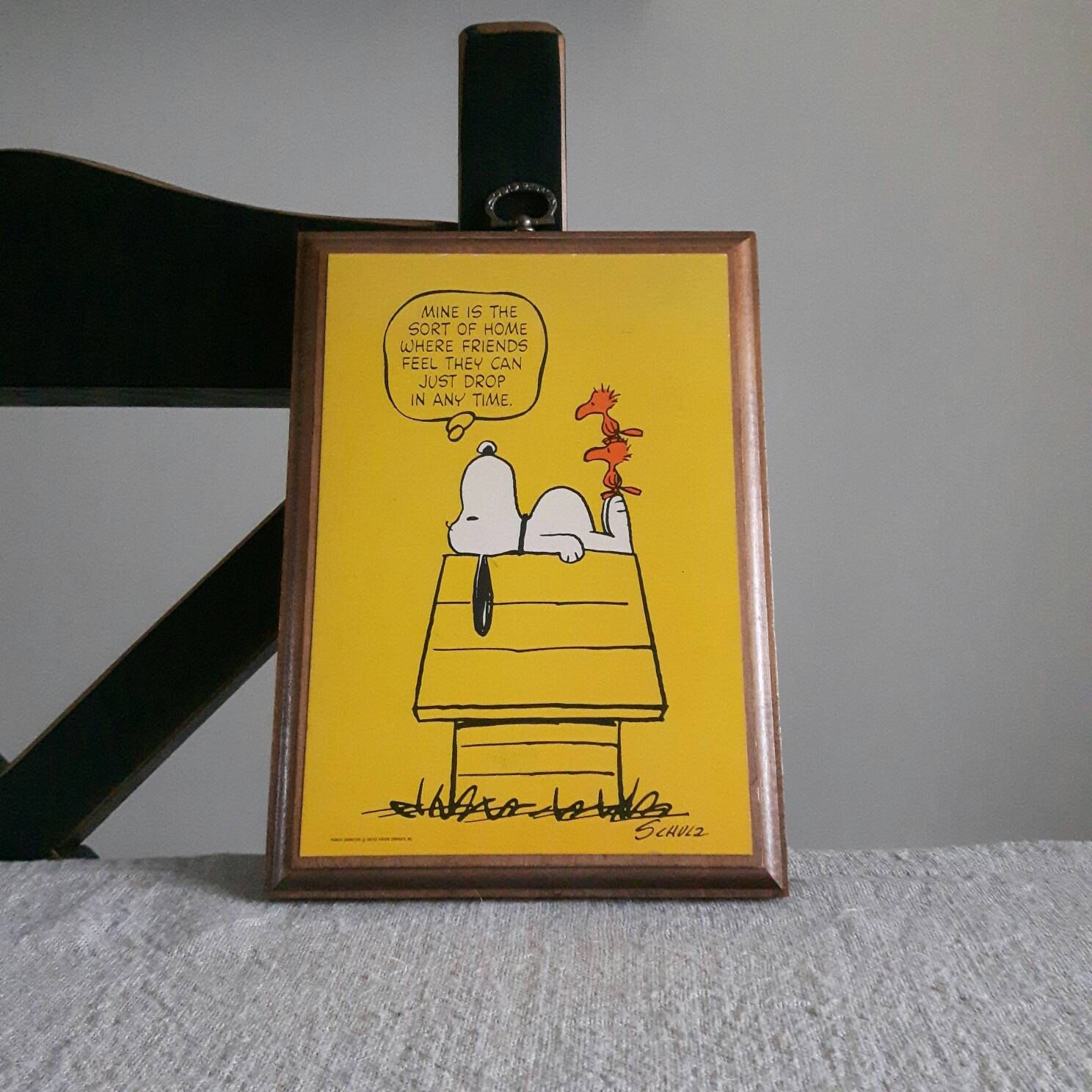 Snoopy & Woodstock wall plaque - peanuts cartoon wall decor ...