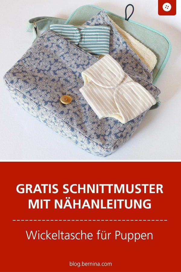 Sac à langer pour les parents de poupées – un guide »Blog BERNINA   – Schnittmuster kostenlos Taschen Freebooks