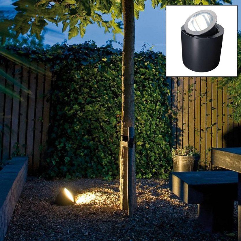 Spot Orientable Rond A Enterrer 230v D26 5cm Vario Akanua Luminaire Exterieur Spots Jardin Exterieur