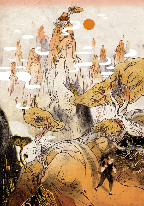 Asian & Action by Victo Ngai, via Behance