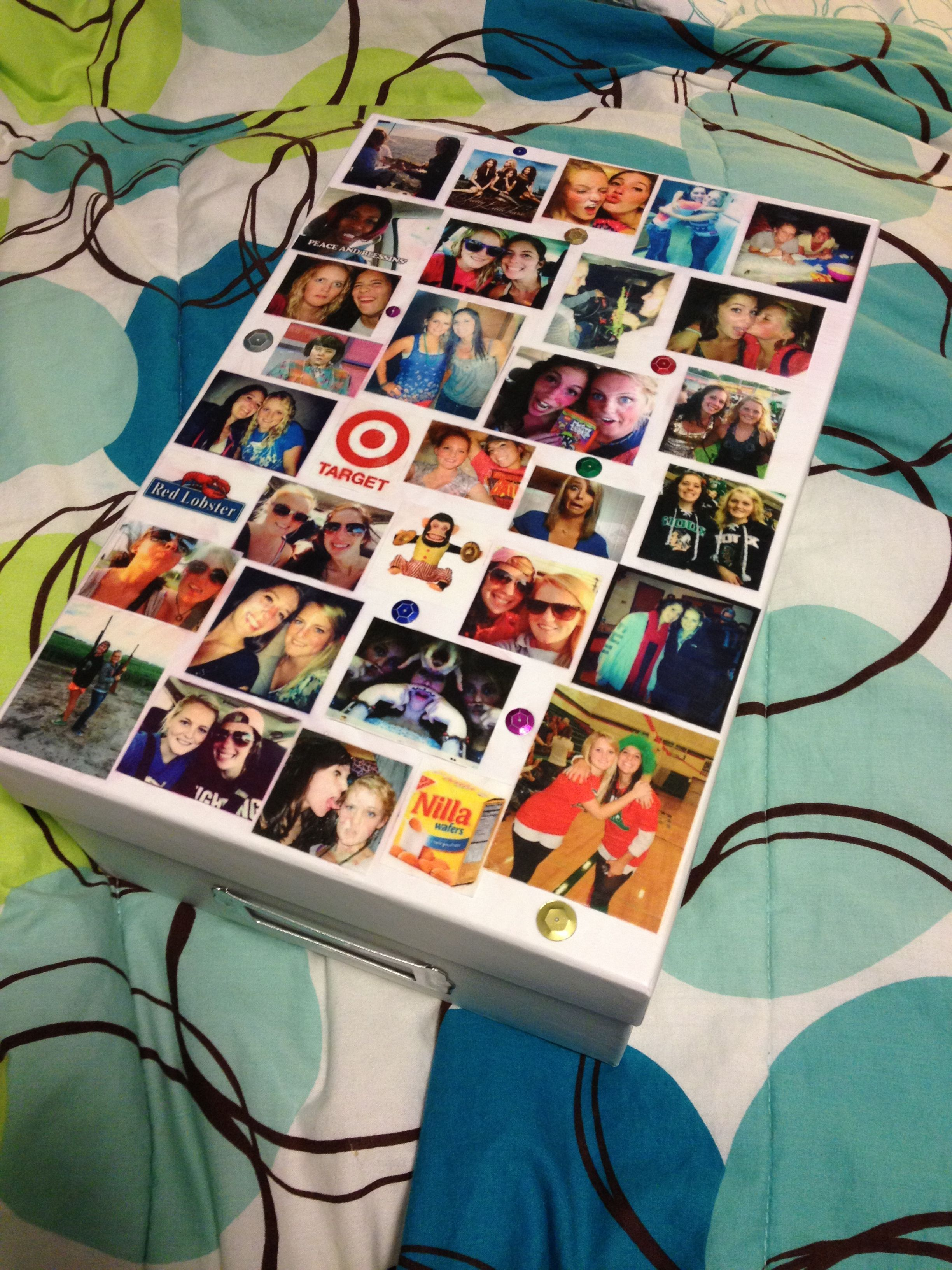 Gift Idea For Your Best Friend S Birthday Use Mod Podge To Glue
