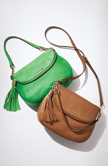474bf282afb5 MICHAEL Michael Kors 'Bedford Tassel - Medium' Convertible Leather Shoulder  Bag. This bag is even nicer in person, and the tassel, perfection!