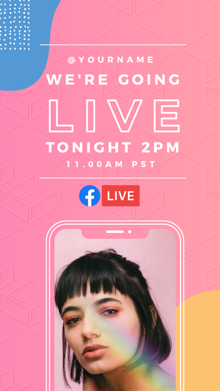 Gradient Shapes Live Announcement Template Easil Instagram Story Instagram Social Media