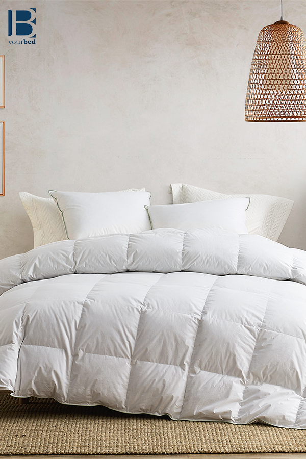 Stylish White Baffle Box Design Recycled Down And Feather Extra Large Twin Queen Or King Comforter Comforters Down Comforter King Comforter