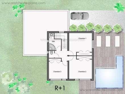 Plan Maison Toit Plat 4 5 Pieces Villa D Architecte 140 Exemple De Maison Contemporaine Plan Maison Contemporaine Plan Maison Ossature Bois Plan Maison