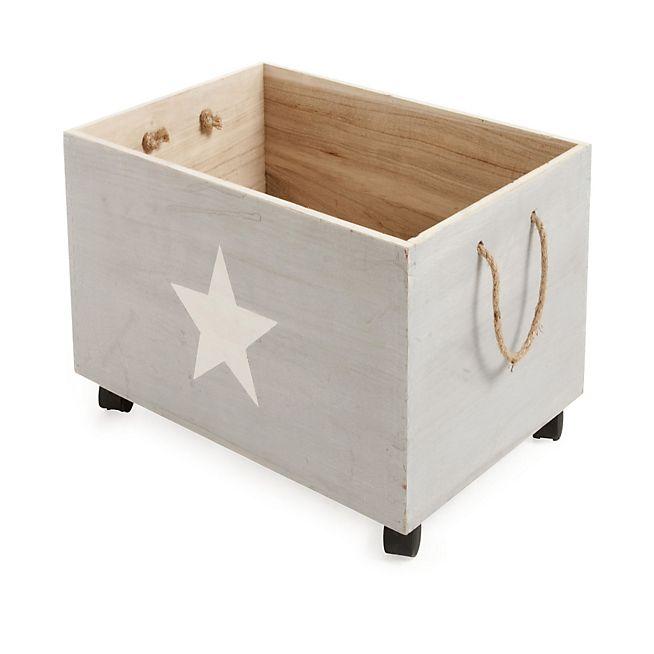 star caisse de rangement roulettes en bois pour enfant kids babies jouets livres. Black Bedroom Furniture Sets. Home Design Ideas