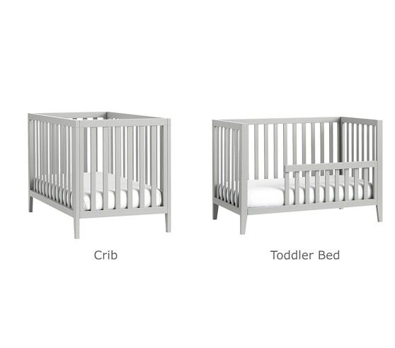 Marlow Convertible Crib With Images Cribs White Baby
