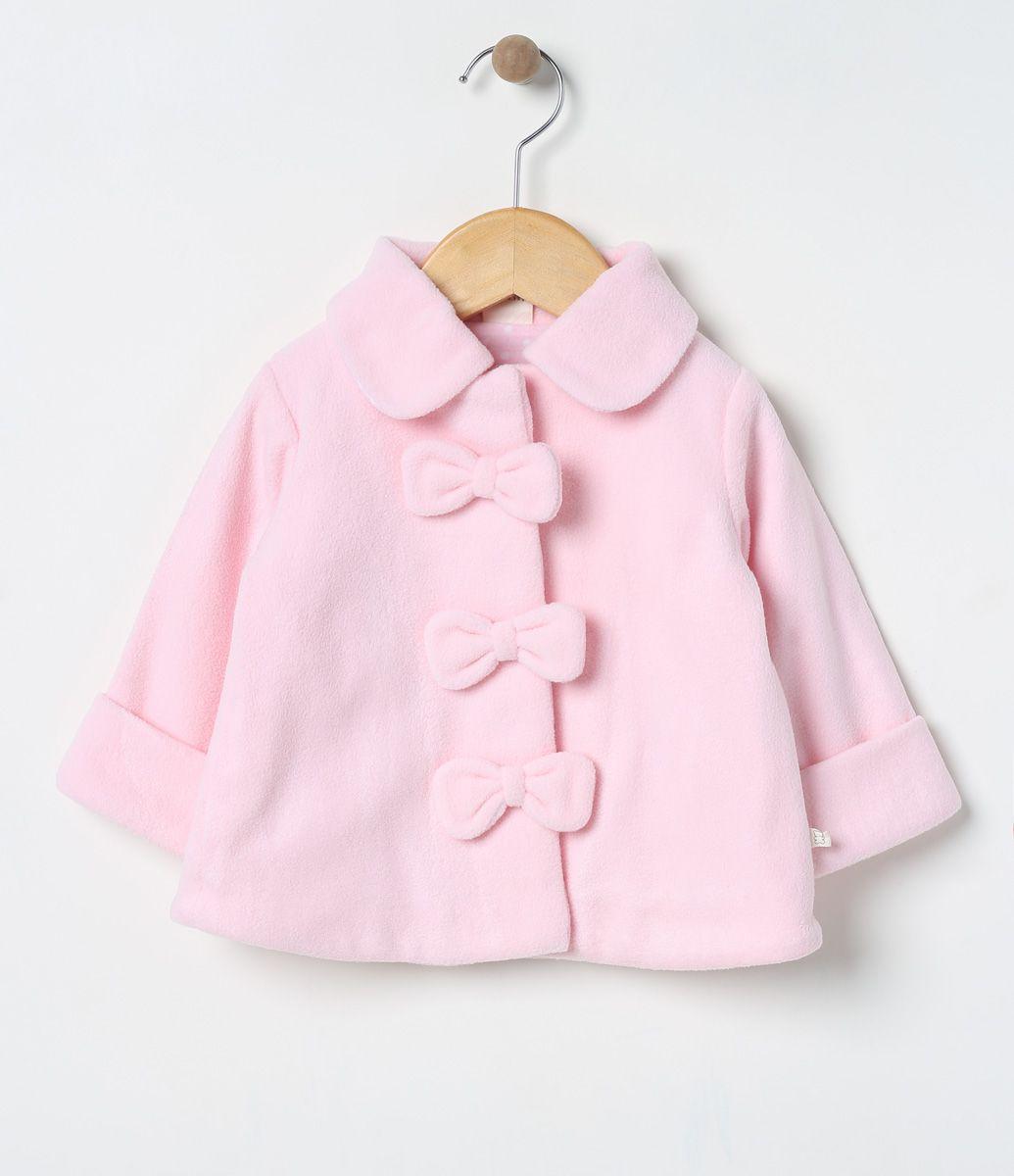 4f6ffa5251 Casaco infantil Com abotoamento frontal Com laços aplicados Marca: Teddy  Boom Tecido: fleece Composição