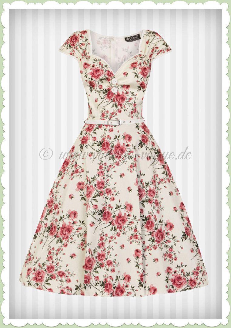 lady vintage 40er jahre retro blumen rosen kleid - isabella