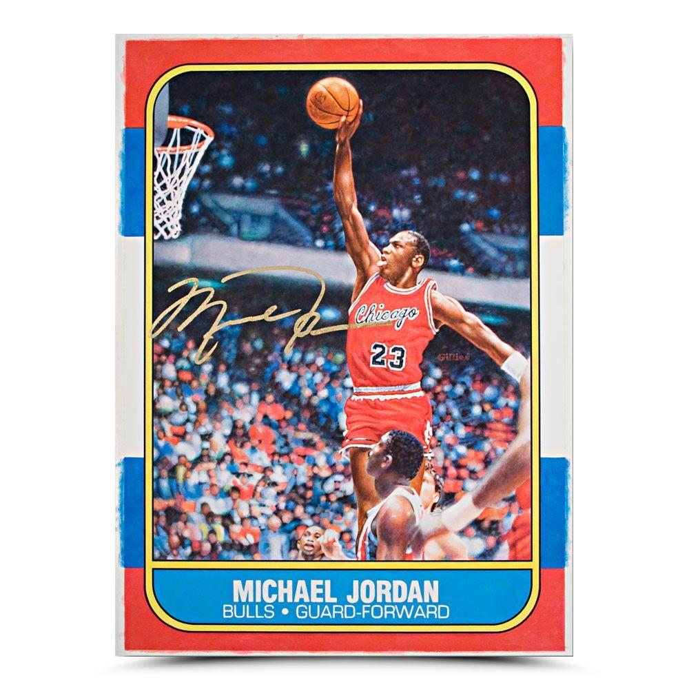 Michael Jordan Rookie Card Original Art Michael jordan