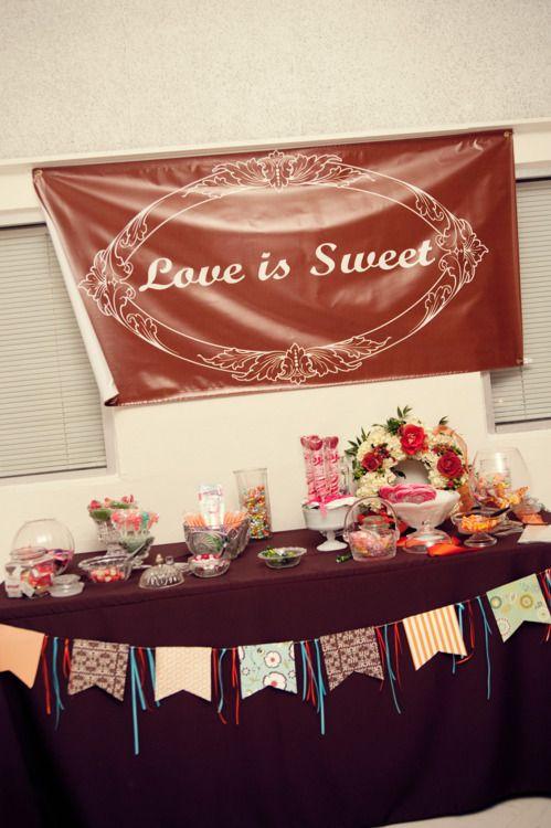 Candy Table For Wedding Reception Wedding Ideas Pinterest