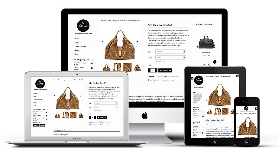 Cartsy Responsive WordPress Stylish eCommerce Theme