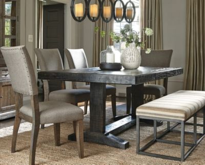 Strumfeld Dining Room Table By Ashley Home Rustic Brown
