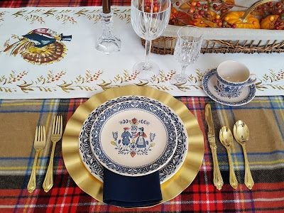 Setting my Thanksgiving Table – Belle Antiquarian #thanksgivingtable #johnsonbrothers #thanksgivingtablesettings