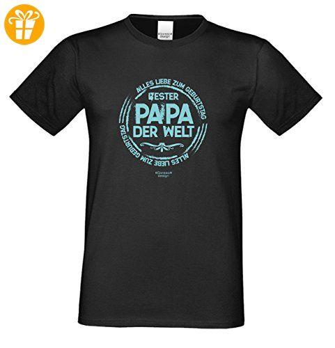 Herren Sprüche Fun T-Shirt wunderschönes Geburtstags-Motiv-Geschenk Bester  Papa der Welt