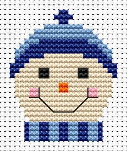 Sew Simple Frosty cross stitch kit