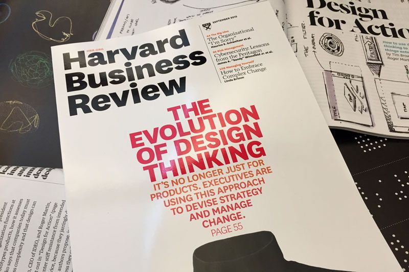 Design thinking indtager Harvard Business Review Afhandling - business review