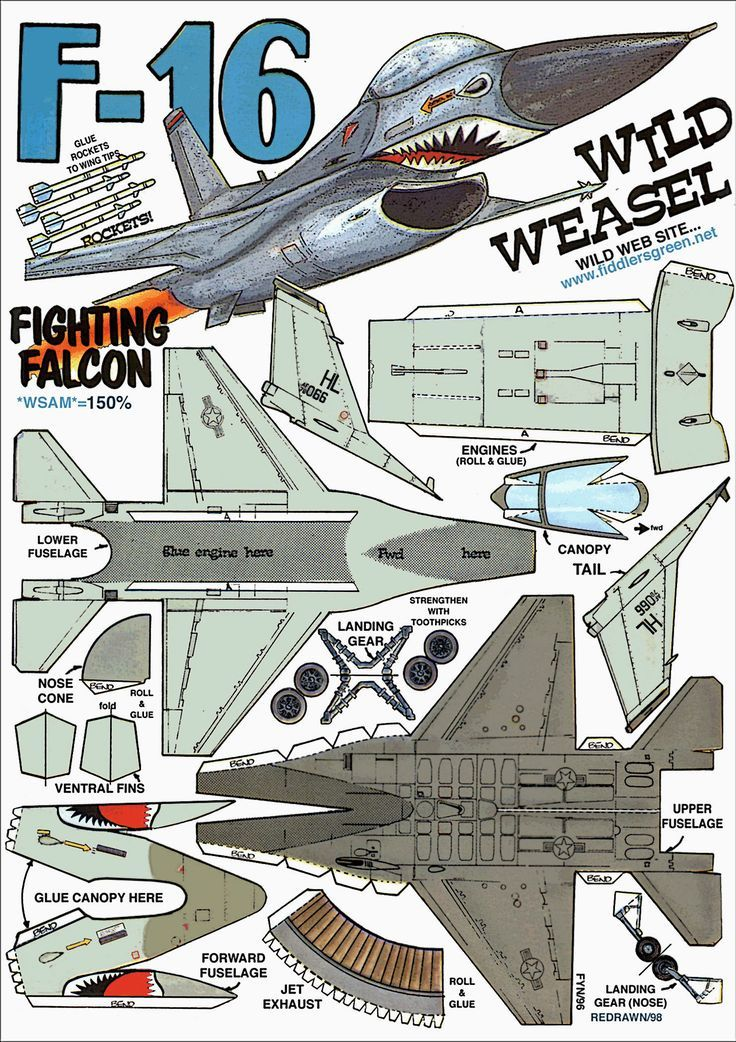 F 16 Falcon Paper Airplane Instructions Arts And Crafts