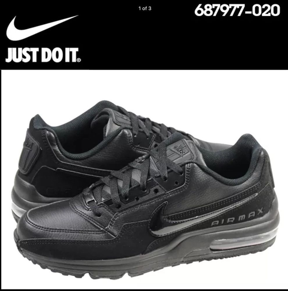 cfaf95626005 Nike Air Max LTD 3 Mens 687977-020 Black Leather Athletic Running Shoes  Size 9  Nike  RunningCrossTraining