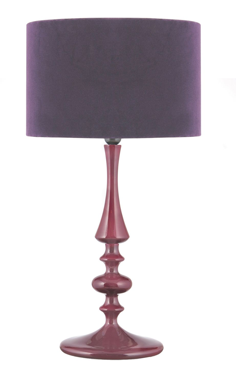 Heals aubergine turned wood table lamp with velvet shade table heals aubergine turned wood table lamp with velvet shade table lamps lamps mozeypictures