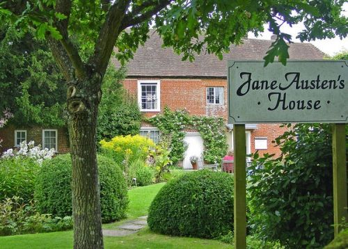 Jane Austen's home. I want to go there one day and retrace her steps and read her words over and over and over again.