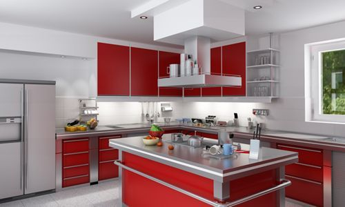 cocina-roja Paint and Texture Pinterest