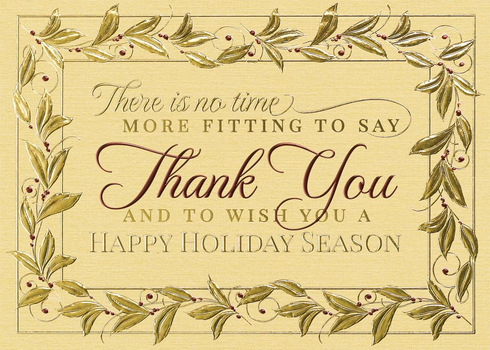 Send heartfelt thanks to your business associates and friends with ...