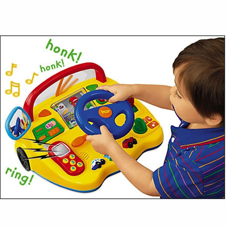Electronic Toy Dashboard With Steering Wheel Electronic