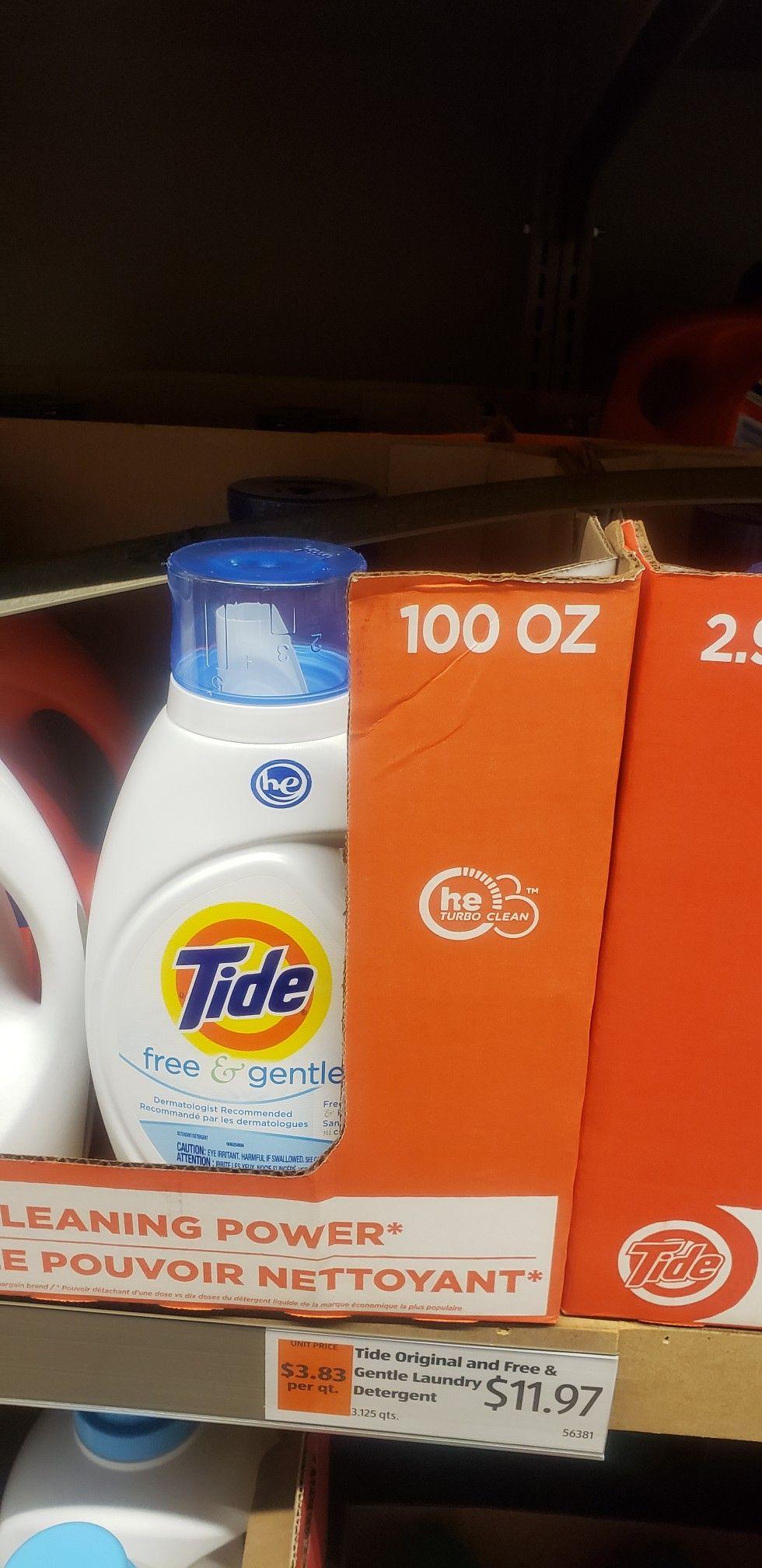 Tide 100oz 11 97 Aldi Pricelist Gentle Laundry Detergent