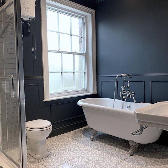10 Bathroom Interior Ideas Inspiration In 2020 Tags Bathroom Interior Design Luxury Black In 2020 Edwardian Bathroom Dark Blue Bathrooms Best Bathroom Designs