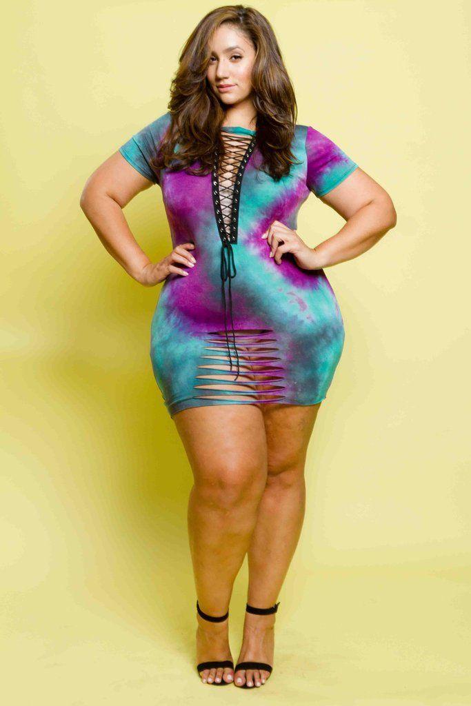 Plus Size Lace Up Tie Dye Mini Dress Plus Size Pinterest Mini