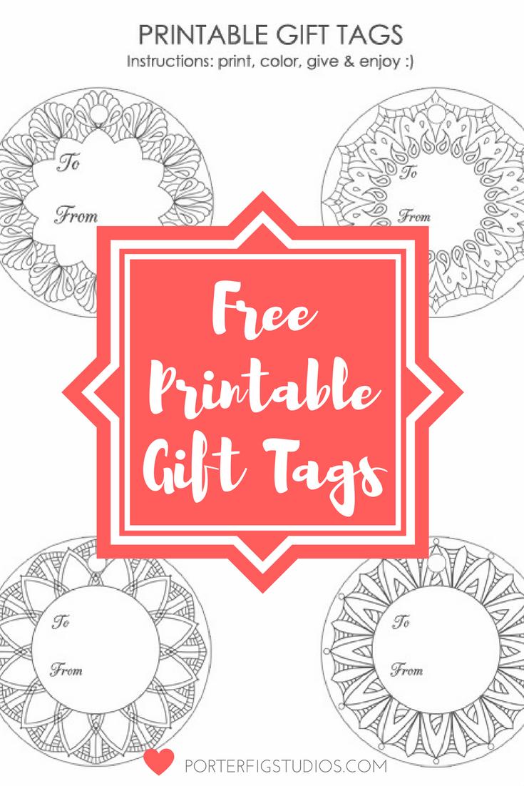 Free printable christmas holiday gift tags coloring page free free printable gift tags from porter fig studios negle Choice Image
