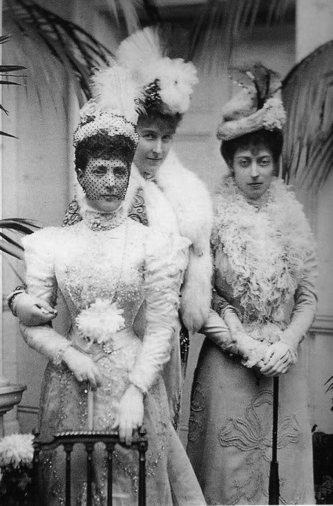 Queen Alexandra and The Princess Victoria with Princess Hélène of Orléans.