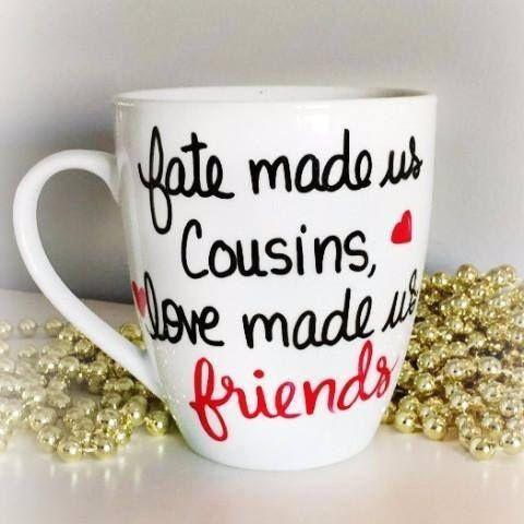 cousins mug cousins gift cousins friends cousins gift idea cousins coffee mug fade us cousin love made us friends mug christmas gift by