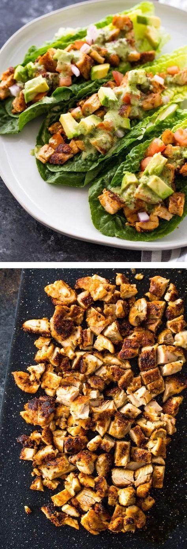 Photo of Chicken Taco Lettuce Wraps (Low-Carb , Paleo, Keto)