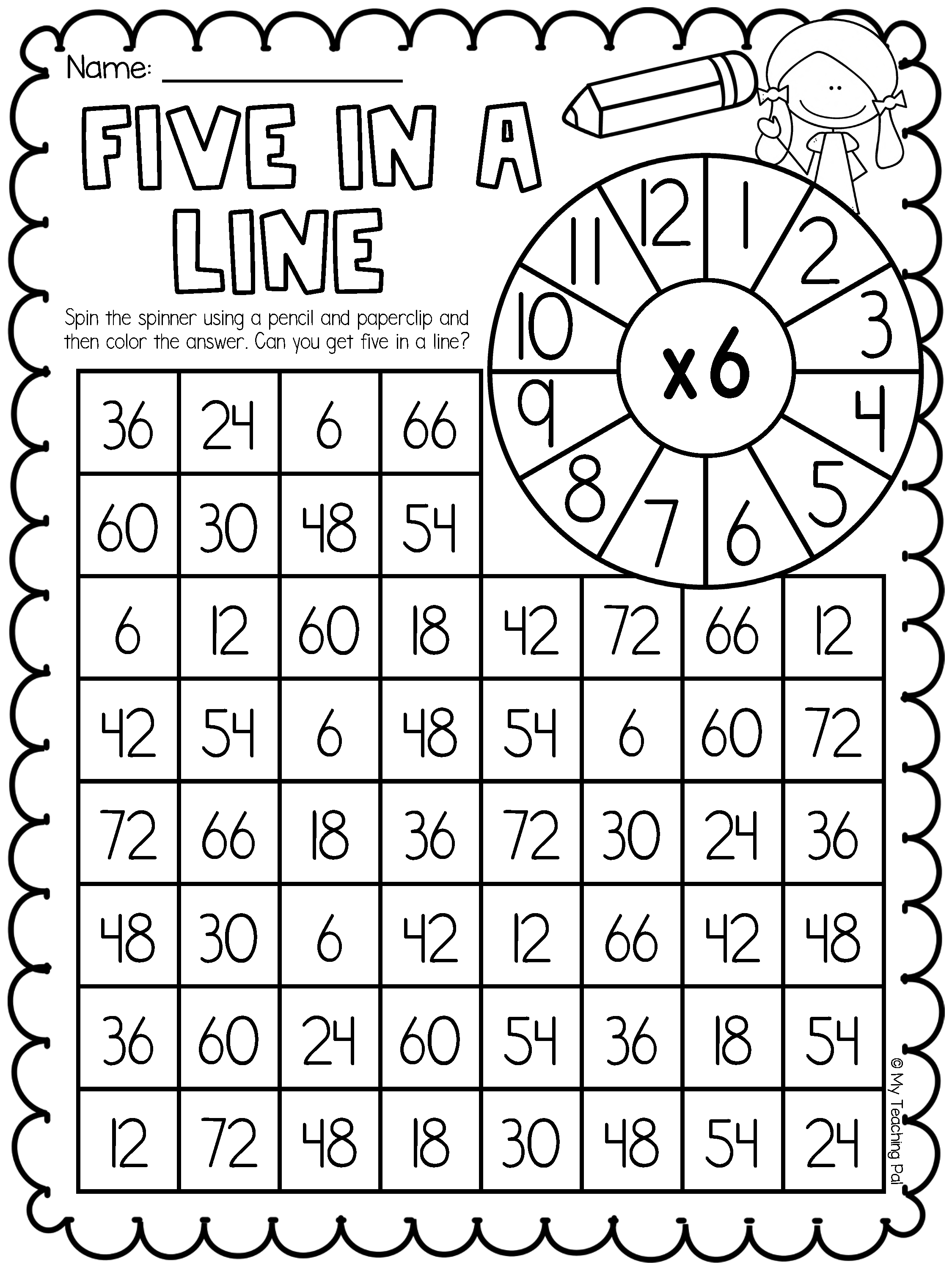 Multiplication Worksheet Bundle