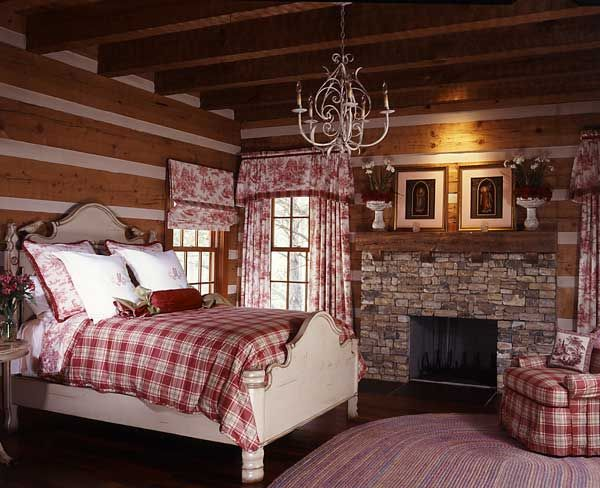 The Natural A Log Home In Tennessee Paint Finishes Red Plaid And Toile