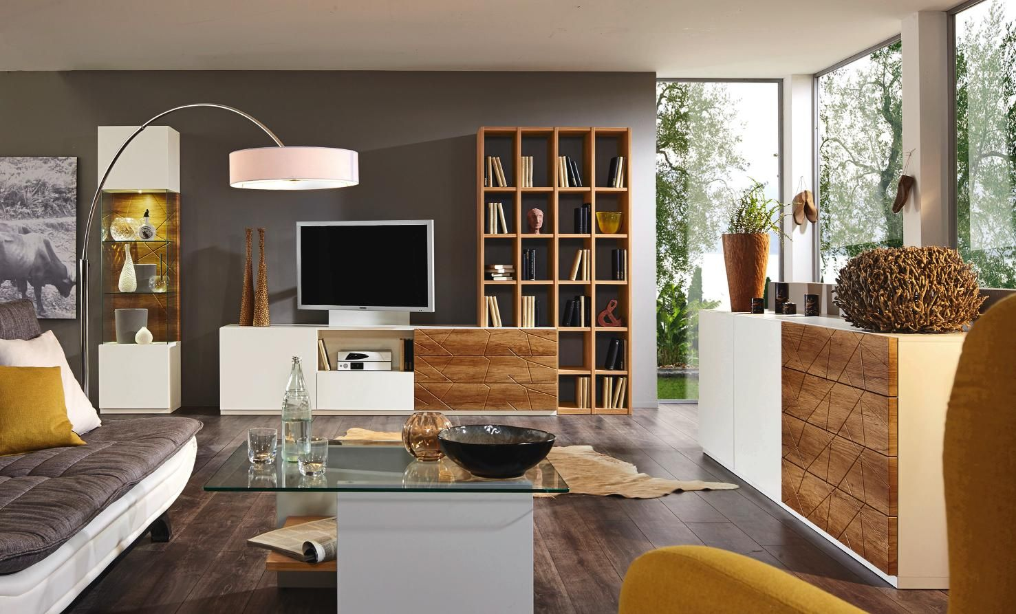 Hochwertig Wohnwand In Creme  Und Eichefarben: PRENNEIS Qualität Für Ihr Zuhause