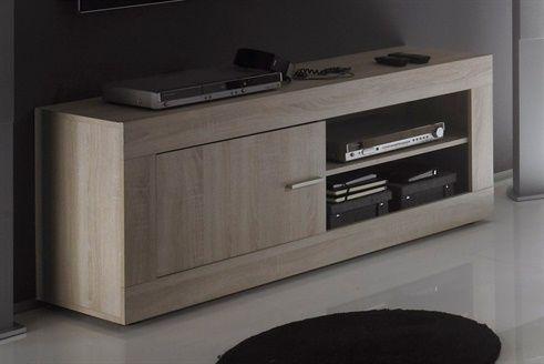 Meuble Tv Contemporain Chene Clair Jack Matelpro En 2020 Meuble Tv Meuble Tv Moderne Meuble