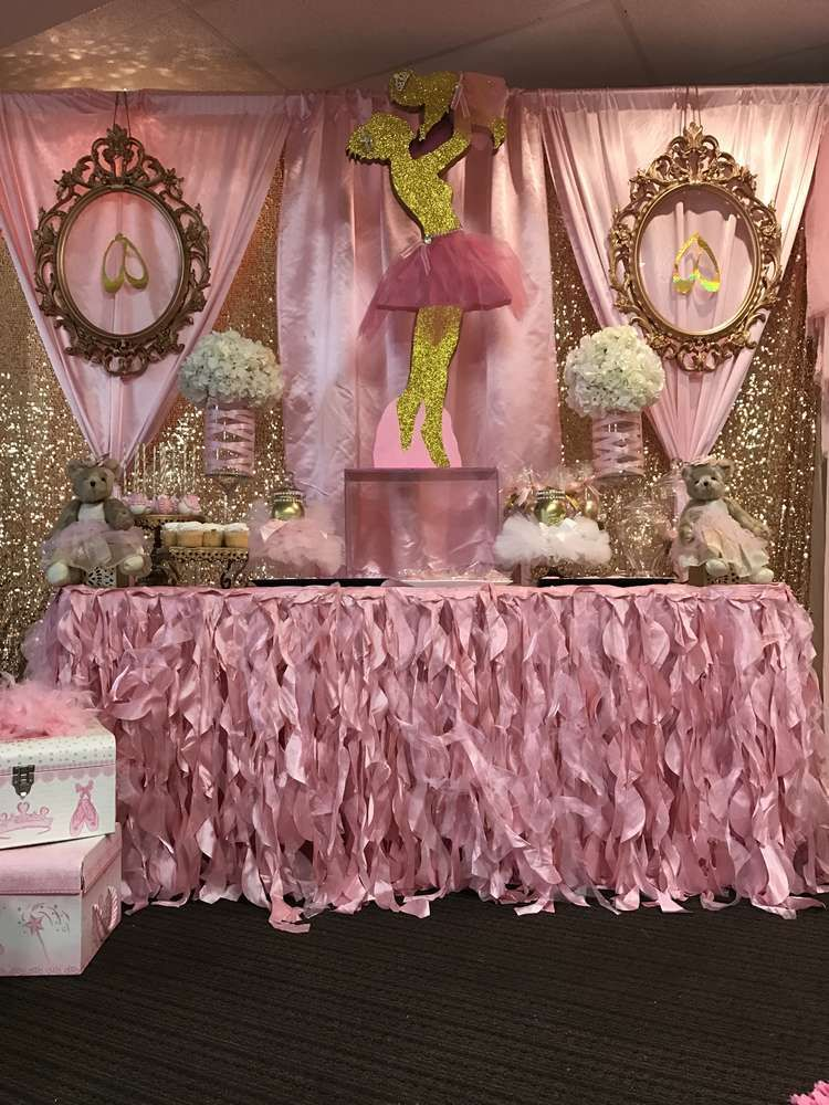 Ballerina Baby Shower Party Ideas Bby Shower Pinterest